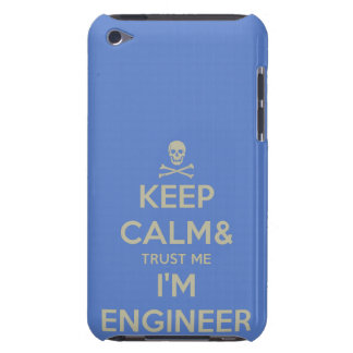Keep calm and trust me I am engineer iPod Touch Case-Mate Case