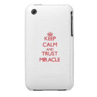 Keep Calm and TRUST Miracle iPhone 3 Cover