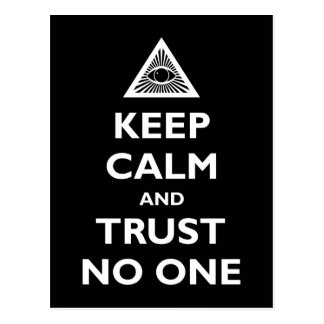 Keep Calm and Trust No One Postcard