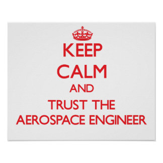 Keep Calm and Trust the Aerospace Engineer Poster