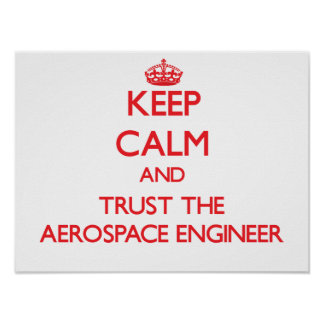Keep Calm and Trust the Aerospace Engineer Posters