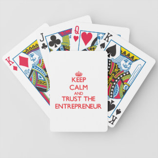 Keep Calm and Trust the Entrepreneur Bicycle Playing Cards