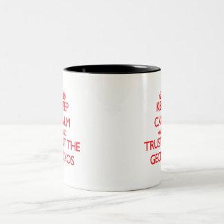 Keep calm and Trust the Geckos Two-Tone Mug