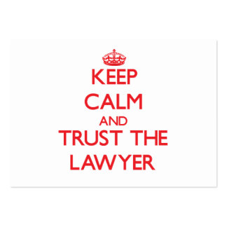 Keep Calm and Trust the Lawyer Business Card Template