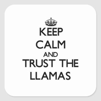 Keep calm and Trust the Llamas Square Sticker