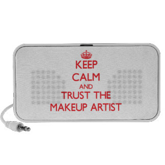 Keep Calm and Trust the Makeup Artist Portable Speakers
