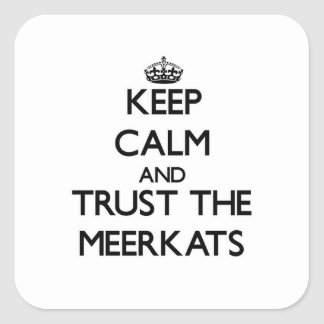 Keep calm and Trust the Meerkats Square Sticker
