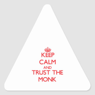 Keep Calm and Trust the Monk Triangle Stickers