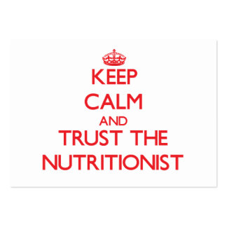 Keep Calm and Trust the Nutritionist Business Card Template