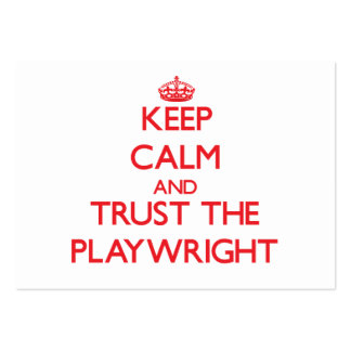 Keep Calm and Trust the Playwright Business Card Templates