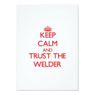 "Keep Calm and Trust the Welder 5"" X 7"" Invitation Card"