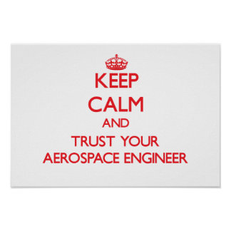 Keep Calm and Trust Your Aerospace Engineer Poster