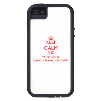 Keep Calm and trust your Agricultural Surveyor iPhone 5 Case