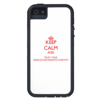 Keep Calm and trust your Agriculture Research Scie iPhone 5 Covers