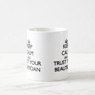 Keep Calm and Trust Your Beautician Basic White Mug