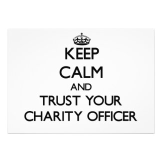 Keep Calm and Trust Your Charity Officer Cards