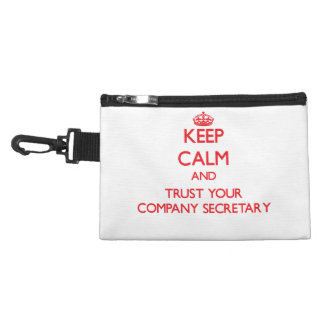 Keep Calm and trust your Company Secretary Accessories Bag