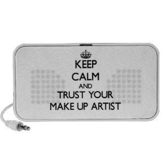 Keep Calm and Trust Your Make Up Artist Laptop Speakers