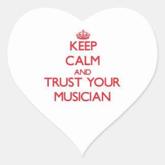 Keep Calm and Trust Your Musician Heart Sticker