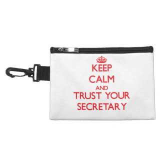 Keep Calm and trust your Secretary Accessory Bags