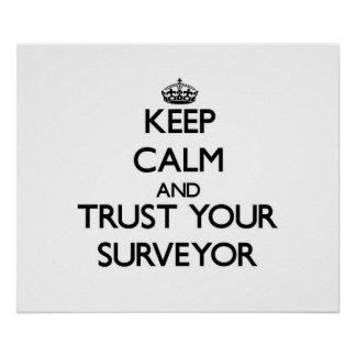 Keep Calm and Trust Your Surveyor Posters