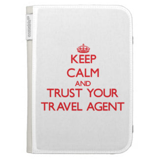 Keep Calm and trust your Travel Agent Kindle Keyboard Covers