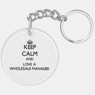 Keep calm and trust your Wholesale Manager Acrylic Keychain