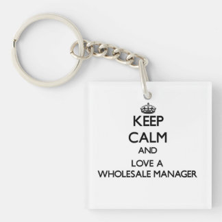 Keep calm and trust your Wholesale Manager Keychains