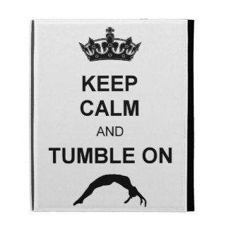 Keep calm and tumble gymnast iPad case