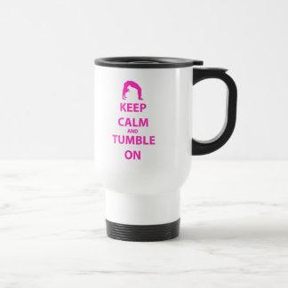 Keep Calm and Tumble On Stainless Steel Travel Mug