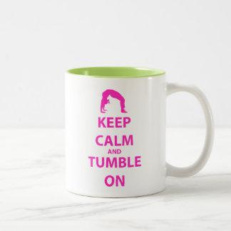 Keep Calm and Tumble On Two-Tone Coffee Mug