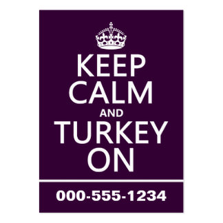 Keep Calm and Turkey On (christmas) Business Cards