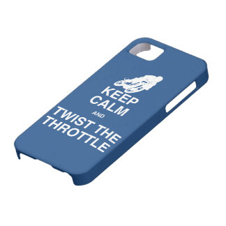 Keep Calm and Twist the Throttle - Cafe Racer iPhone 5 Cases