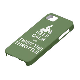 Keep Calm and Twist the Throttle - Dirt Bike iPhone 5 Cover