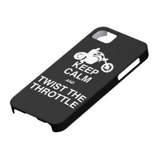 Keep Calm and Twist the Throttle - Harley/Chopper iPhone 5 Case