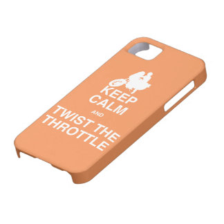 Keep Calm and Twist the Throttle - Harley/Cruiser iPhone 5 Case