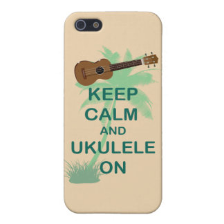 Keep Calm and Ukulele On Unique Fun Print iPhone 5/5S Covers