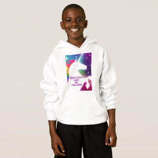 Keep Calm and Unicorn Girls Hoodie