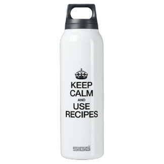 KEEP CALM AND USE RECIPES SIGG THERMO 0.5L INSULATED BOTTLE