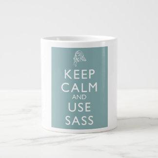 Keep Calm and Use Sass Large Coffee Mug