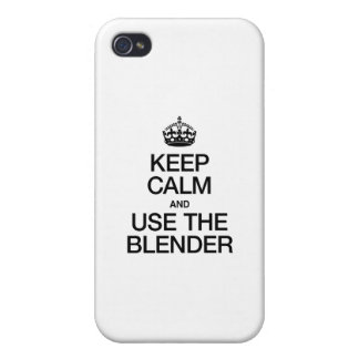 KEEP CALM AND USE THE BLENDER iPhone 4/4S CASE