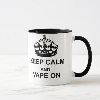 Keep Calm and Vape On Black Mug