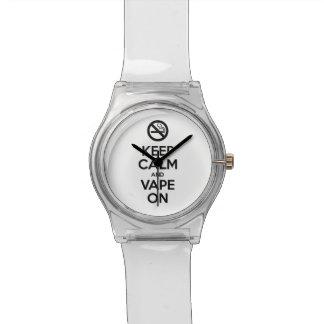 Keep Calm and Vape On ~ Self Motivational Wristwatches