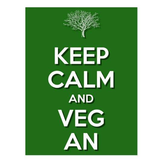 Keep Calm and VegAn Postcard