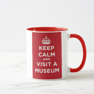 Keep Calm And Visit A Museum Mug