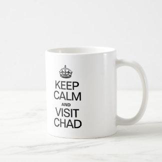 KEEP CALM AND VISIT CHAD COFFEE MUG