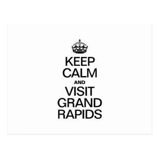 KEEP CALM AND VISIT GRAND RAPIDS POSTCARD