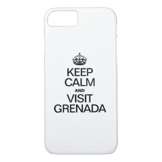 KEEP CALM AND VISIT GRENADA iPhone 7 CASE