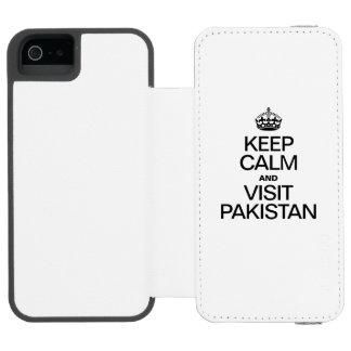 KEEP CALM AND VISIT PAKISTAN INCIPIO WATSON™ iPhone 5 WALLET CASE