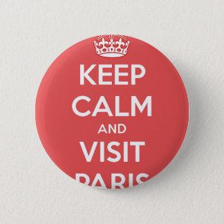 Keep Calm and Visit Paris 2 Inch Round Button